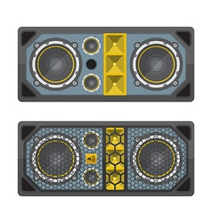 professional concert tour array speakers colored vector image vector image