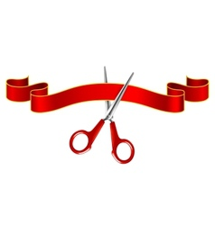 Tape and scissors vector image vector image