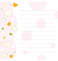 Baby Kitty Notepad Paper vector image