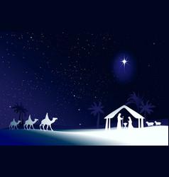 Christmas scene vector