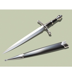dagger and scabbard vector image vector image