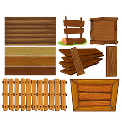 wooden boards and sign vector image