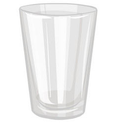 A water glass isolated on white background vector