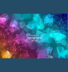 abstract colorful geometric polygonal background vector image