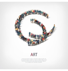 art people sign 3d vector image vector image