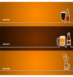 Beer outline for Design 1 vector