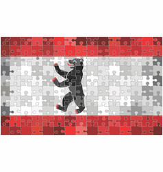 Berlin flag made puzzle background vector