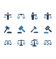 Business law icons vector