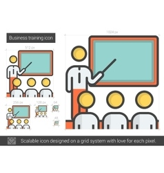 Business training line icon vector