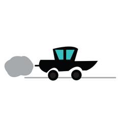car emitting smoke or color vector image