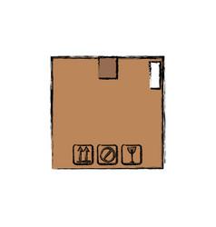 Cardboard box carton delivery packaging vector