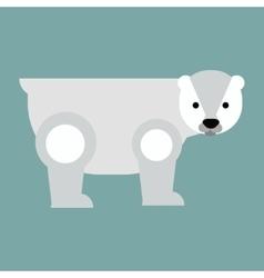 Cartoon bear haracter vector image