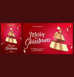 christmas card or flyer and poster template with vector image