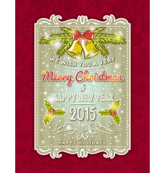 christmas card with decorative ornament vector image