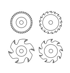 circular saw blade on white background vector image