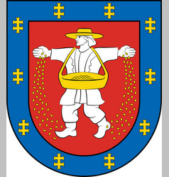 Coat of arms of marijampole county in lithuania vector
