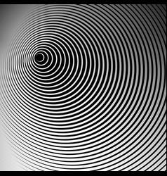 Concentric radial radiating circles - abstract vector
