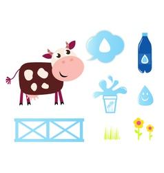 cow milk vector image