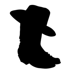 cowboy boots black silhouette boots vector image