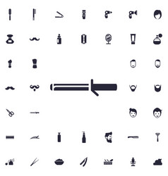 Curling iron icon vector