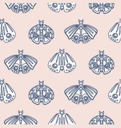 Cute butterfly pastel seamless pattern vector