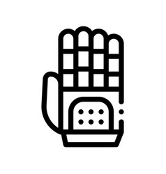 cyber hand artificial intelligence icon vector image