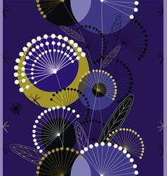 dandelions flowers seamless pattern vector image