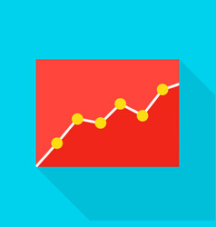 Data analytics flat icon vector