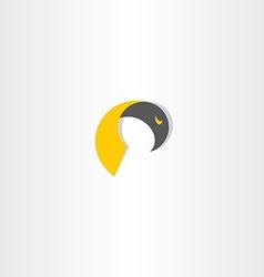 eagle bird abstract icon design vector image