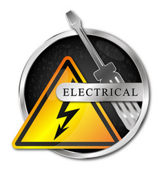 electricity symbol screwdriver and lightning vector image
