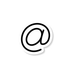email dog sticker icon vector image