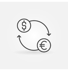 Exchange linear icon vector image