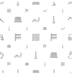field icons pattern seamless white background vector image