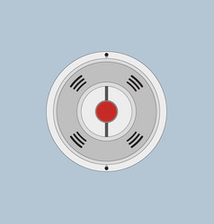fire alarm in flat style vector image