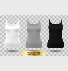 Fitness tank top for women vector