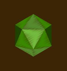 Flat shading style icon virus vector