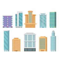 flat various modern skyscrapers vector image