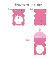 folder elephant vector image