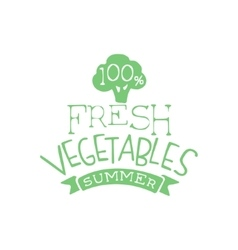 Fresh Vegetables Summer Calligraphic Cafe Board vector