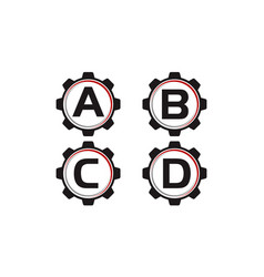 gear template set vector image