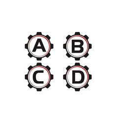 gear template set vector image