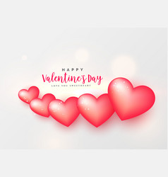 Gorgeous pink hearts valentines day background vector