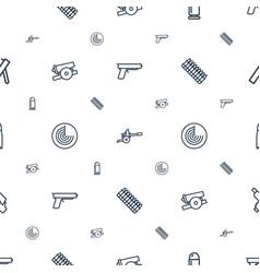 Gun icons pattern seamless white background vector