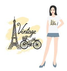 Hand drawn t shirt design vector image