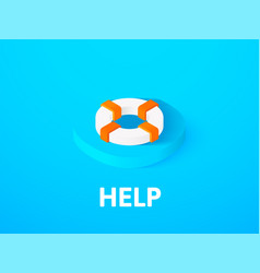 Help isometric icon isolated on color background vector