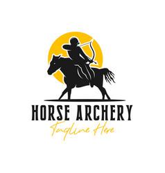 horse archer inspiration logo design vector image
