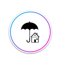house with umbrella icon on white background vector image