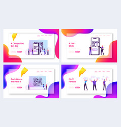 Internet smart technologies website landing page vector