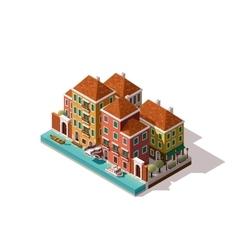 Isometric Venice street vector