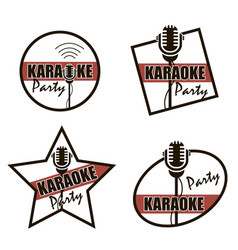 karaoke party icons vector image
